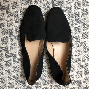 J. Crew Darby black leather loafers